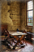 Dark Wood Table  Prints - The room on the side Print by Joan Carroll