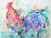 Gallus Gallus Prints - The Rooster Print by Fabrizio Cassetta
