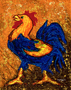 Rooster Kitchen Art Prints - The Rooster Print by William Depaula