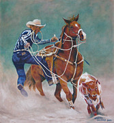 Roping Horse Paintings - The Roper by Charlene Cummings