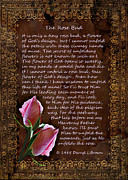 Encouragement Posters - The Rose Bud Poster by Carolyn Marshall