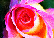 Floral Greeting Card Posters - The Rose Digital Art Poster by John Rizzuto