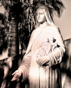 Religious Prints Photos - THE ROSE Palm Springs by William Dey