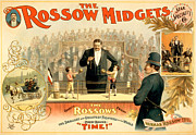 Boxing Mixed Media Framed Prints - The Rossow Midgets Framed Print by Charles Ross