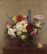 Famous Artists - The Rosy Wealth of June by Henri Fantin-Latour