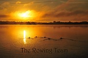 Tranquility Prints - The Rowing Team Print by Terri Gostola