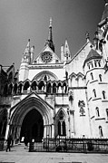 London Central Framed Prints - the royal courts of justice law courts central London England UK Framed Print by Joe Fox
