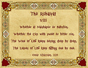 The Rubaiyat Viii Omar Khayyam  Print by Olga Hamilton