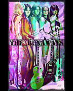 Guitar Players Framed Prints - The Runaways Framed Print by Absinthe Art By Michelle LeAnn Scott