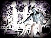 Invert Color Photos Digital Art - The Runner by Jake Hartz