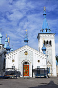 Kyrgyzstan Photos - The Russian Orthodox Church in Bishkek Kyrgyzstan by Robert Preston