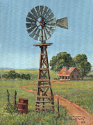 Texas Painting Originals - The Rusty Barrel by Randy Follis