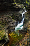Watkins Glen State Park Prints - The S Print by Bill  Wakeley
