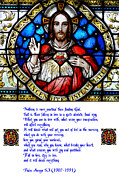 Francis Digital Art Posters - The Sacred Heart and the Arrupe Prayer Poster by Philip Ralley