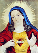 The Sacred Heart Of Mary Print by Digital Reproductions