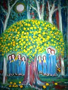 Fruit Tree Art Paintings - The sacred lemon tree by Catherine Walker
