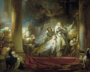 Famous Artists - The sacrifice of Callirrhoe by Jean-Honore Fragonard