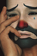 Cries Metal Prints - The Sad Clown Metal Print by Liam Liberty