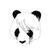 Emo Digital Art Posters - The sad panda Poster by Budi Satria Kwan