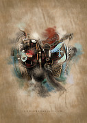 Sand Mixed Media Originals - The Saddle by Graphicsite Luzern