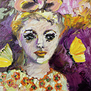 Faces Paintings - The Sadness In Her Eyes by Ginette Callaway