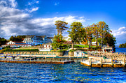 Fall Colors Art - The Sagamore Hotel on Lake George by David Patterson