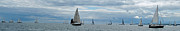 Port Credit Prints - The Sail Past Print by Ian  MacDonald