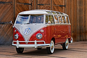 Vw Bus Posters - The Samba Poster by Peter Tellone