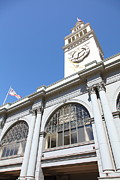 Clocks Framed Prints - The San Francisco Ferry Building 5D25385 Framed Print by Wingsdomain Art and Photography