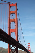Steel Construction Prints - The San Francisco Golden Gate Bridge 5D21608 Print by Wingsdomain Art and Photography