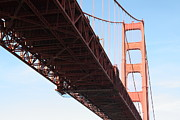 Steel Construction Prints - The San Francisco Golden Gate Bridge 5D21614 Print by Wingsdomain Art and Photography