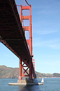 Steel Construction Prints - The San Francisco Golden Gate Bridge 5D21619 Print by Wingsdomain Art and Photography