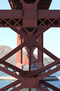 Steel Construction Prints - The San Francisco Golden Gate Bridge 5D21633 Print by Wingsdomain Art and Photography