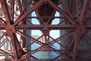 Steel Construction Prints - The San Francisco Golden Gate Bridge 5D21635 Print by Wingsdomain Art and Photography