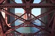 Steel Construction Prints - The San Francisco Golden Gate Bridge 5D21636 Print by Wingsdomain Art and Photography