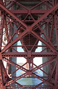 Steel Construction Prints - The San Francisco Golden Gate Bridge 5D21639 Print by Wingsdomain Art and Photography
