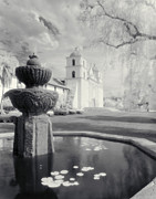 Lilly Pads Prints - The Santa Barbara Mission Print by Jerry McElroy