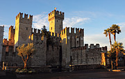 Northern Italy Photos - The Scaliger Castle in Sirmione by Kiril Stanchev