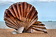 Aldeburgh Prints - The Scallop 2 Print by Chris Thaxter