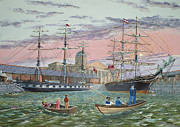 Clippers Painting Prints - The Scamps of Canning Dock Print by Anthony Lyon