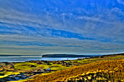 Us Open Framed Prints - The Scenic Chambers Bay Golf Course II - Location Of The 2015 U.s. Open Tournament Framed Print by David Patterson