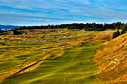Us Open Posters - The Scenic Chambers Bay Golf Course V - Location of the 2015 U.S. Open Tournament Poster by David Patterson