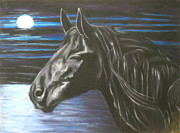 Wild Horses Pastels - The scent is Fresh  by Jeanne Fischer