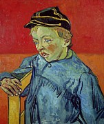 Chair Painting Metal Prints - The Schoolboy Metal Print by Vincent Van Gogh