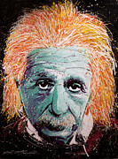 Albert Einstein Paintings - The Scientist by Chris Mackie