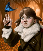 Butterfly Digital Art Posters - The Scientist Poster by Mark Zelmer