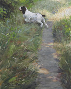 Springer Spaniel Paintings - The Scout by Anna Bain