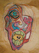 Anger Pastels - The Scream by Mike Manzi