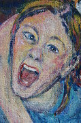 Yelling Painting Prints - The Scream Print by Susan  Brown  Slizys artist name