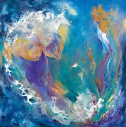 Outer Space Painting Originals - The Sea and Me by Debra Hillard